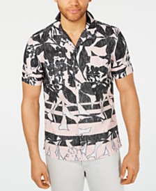 I.N.C. Men's Frag Pattern Shirt, Created for Macy's