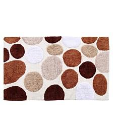 Saffron Fabs Pebble Stone Non-Skid Cotton Bath Rug Collection