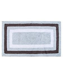 "Race Track 50"" x 30"" Reversible Cotton Bath Rug"