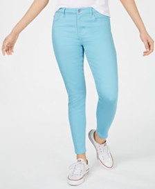 Celebrity Pink Juniors' White Colored Skinny Jeans