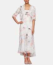 6a5eef7793 Alex Evenings Bolero Jacket & Floral-Print Tea-Length Dress