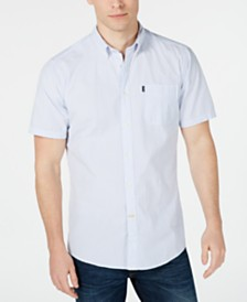 Barbour Men's Tailored-Fit Stripe Seersucker Shirt