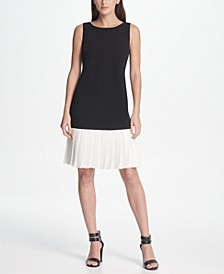 Pleated Flounce Hem Dress