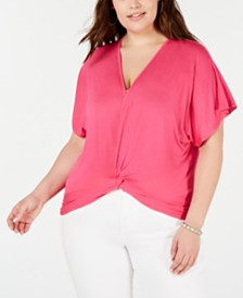 Planet Gold Trendy Plus Size Twisted Top