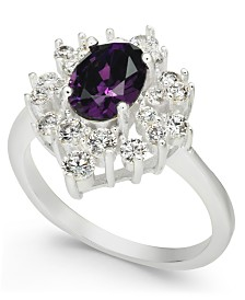 Charter Club Silver-Tone Crystal & Stone Burst Ring, Created for Macy's