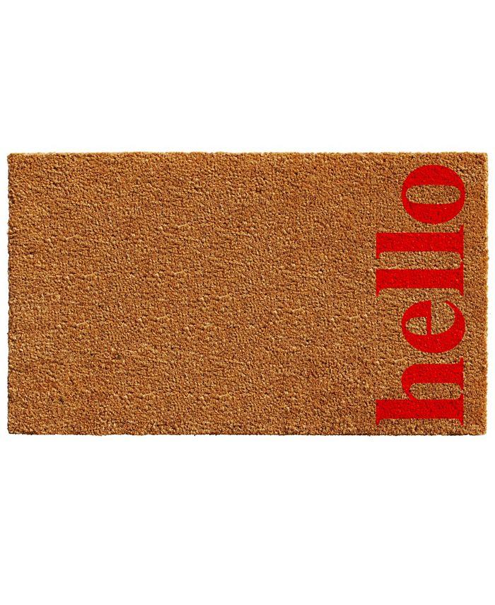 """Home & More - Vertical Hello 24"""" x 36"""" Coir/Vinyl Doormat"""