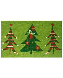 "Christmas Trio 17"" x 29"" Coir/Vinyl Doormat"