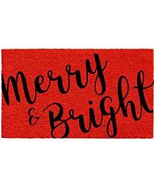 """Merry and Bright 24"""" x 36"""" Coir/Vinyl Doormat"""