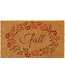 "Fall Wreath 17"" x 29"" Coir/Vinyl Doormat"