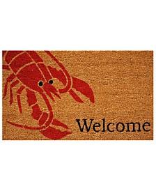 """Lobster 17"""" x 29"""" Coir/Vinyl Doormat"""