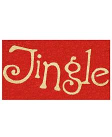 """Jingle 17"""" x 29"""" Coir/Vinyl Doormat"""