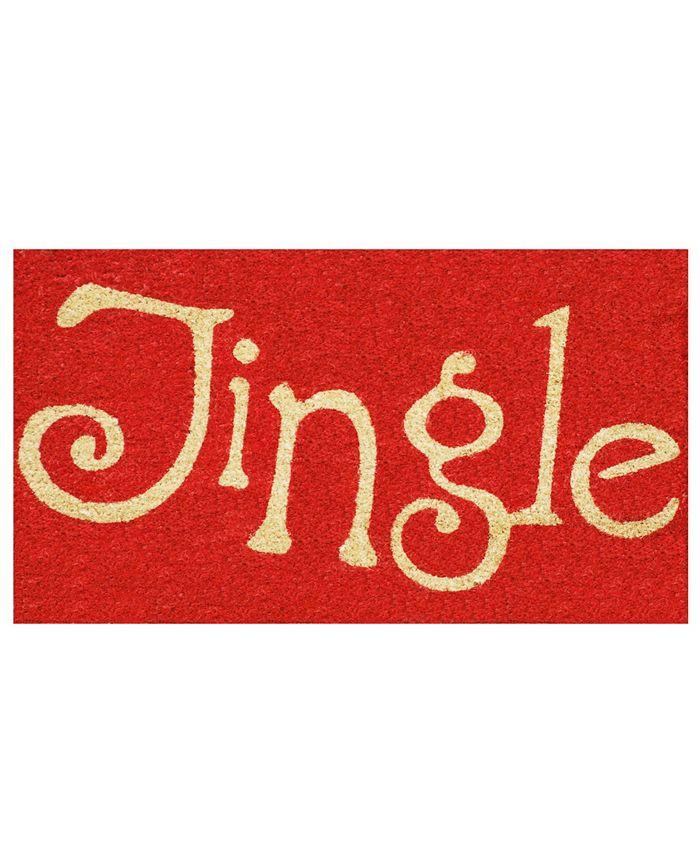 """Home & More - Jingle 17"""" x 29"""" Coir/Vinyl Doormat"""