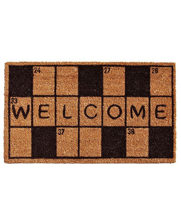 """Home & More - Crossword Welcome 17"""" x 29"""" Coir/Vinyl Doormat"""