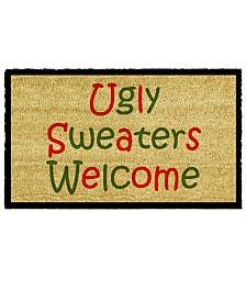 """Ugly Sweaters 17"""" x 29"""" Coir/Vinyl Doormat"""
