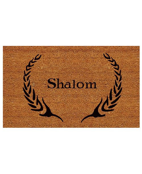 "Home & More Shalom 24"" x 36"" Coir/Vinyl Doormat"