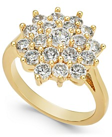Gold-Tone Crystal Cluster Burst Ring, Created for Macy's