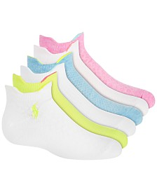 Polo Ralph Lauren Toddler, Little & Big Girls 6-Pk. Textured Low-Cut Ankle Socks