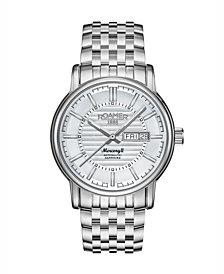 Roamer Men's 3 Hands Day Date 42 mm Dress Watch in Stainless Steel Steel Case and Steel Bracelet