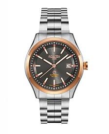 Men's 3 Hands Date 42 mm Dress Watch in Steel Case and Steel Bracelet
