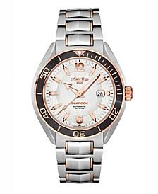 Men's 3 Hands Date 44.5 mm Dress Watch in Two Tone Steel Case and Bracelet