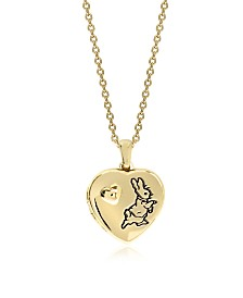 Beatrix Potter Gold Plated Sterling Silver Peter Rabbit Heart Locket Necklace