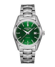 Ladies' 3 Hands Date 30 mm Dress Watch in Stainless Steel Case and Bracelet