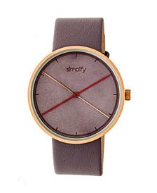 Quartz The 4100 Rose Gold Case, Genuine Purple Leather Watch 43mm