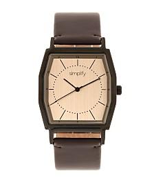 Simplify Quartz The 5400 Bronze Dial, Genuine Dark Brown Leather Watch 40mm
