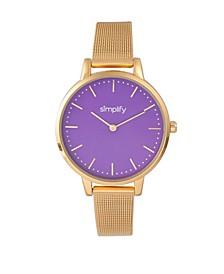 Quartz The 5800 Purple Dial, Gold Alloy Watch 38mm