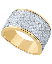 Diamond Cluster Statement Ring (2 ct. t.w.) in 14k Gold