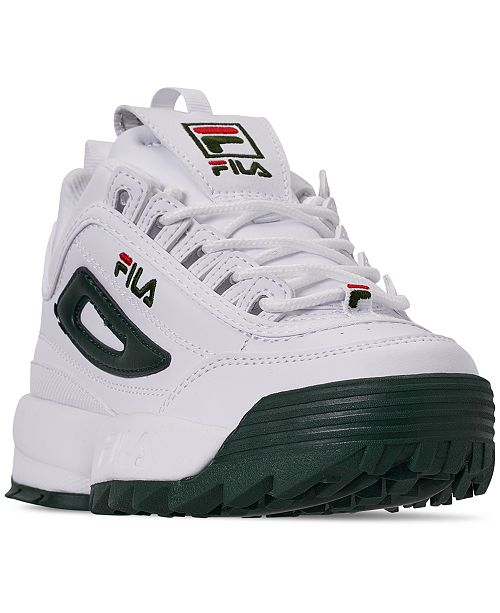 Fila Boys' Disruptor II Premium Casual Athletic Sneakers from Finish Line
