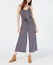0c966e1e4958f American Rag Juniors' Striped Cropped Wide-Leg Jumpsuit, Created for Macy's