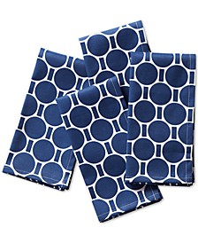 Boardwalk Dot Navy Napkins, Set of 4