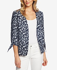 Printed 3/4-Sleeve Jacket