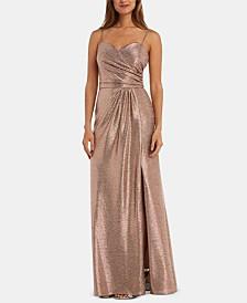 Nightway Petite Metallic Gown