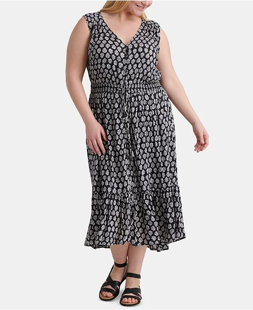 Lucky Brand Plus Size Printed Felice Dress
