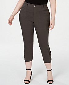 INC Plus & Petite Plus Ruched-Hem Cropped Pants, Created for Macy's