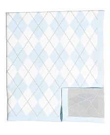 Argyle Knit Baby Blanket