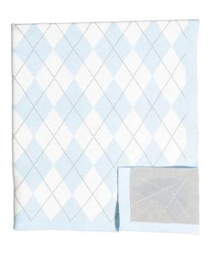 Image of Argyle Knit Baby Blanket