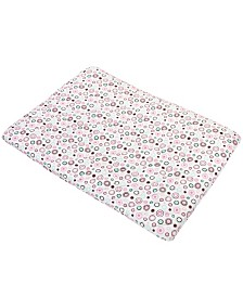 Carter's 100% Cotton Playard Sheet - Pink Circles