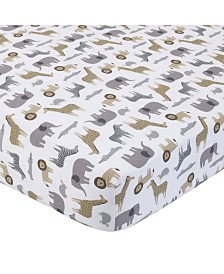 Carter's 100% Cotton Sateen Fitted Crib Sheet - Multi Safari