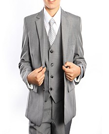 Tazio Glen Plaid Classic Fit 2 Button Vested Suits for Boys
