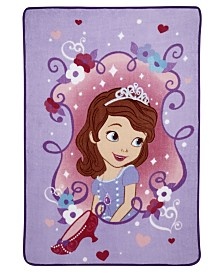 Disney Sofia the First Super Soft Coral Fleece Toddler Blanket