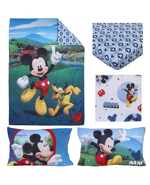 pick up b2b30 a2bc4 Mickey Mouse Playhouse 4 Piece Toddler Bed Set
