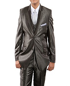 Notch Lapel Single Breasted 1 Button Vested Suits for Boys