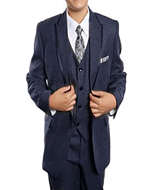 Trim Classic Fit 2 Button Vested Suits for Boys