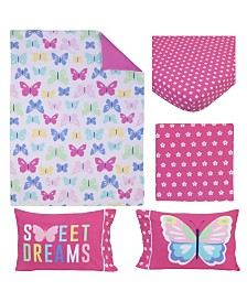 Carter's Butterflies 4 Piece Toddler Bed Set