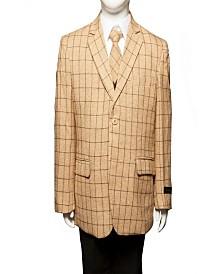 Tazio Classic Fit Windowpane 2 Button Suits for Boys