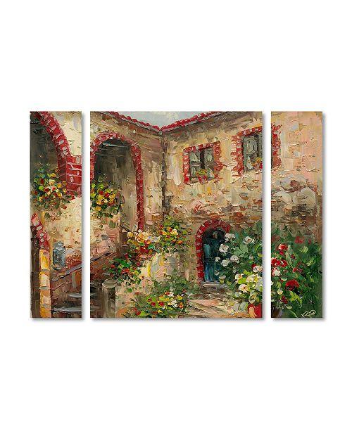 "Trademark Global Rio 'Tuscany Courtyard' Multi Panel Art Set Small - 32"" x 24"" x 2"""