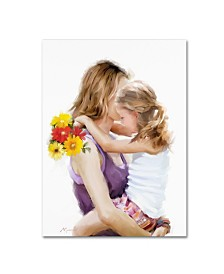 """The Macneil Studio 'Mother And Daughter' Canvas Art - 19"""" x 14"""" x 2"""""""